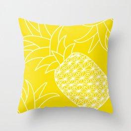 Ananas yellow Throw Pillow