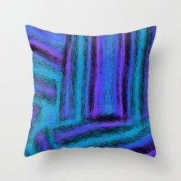 Fuzzy Blues Throw Pillow
