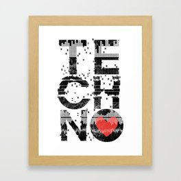 Love Techno Music Framed Art Print