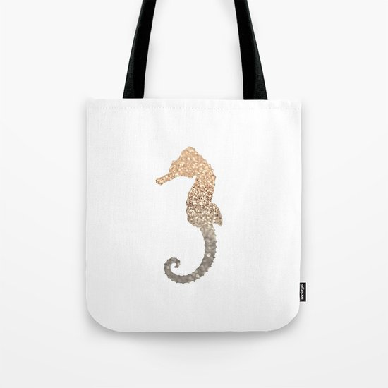 GOLD SEAHORSE Tote Bag