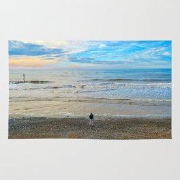 Cromer Beach at Sunset Rug