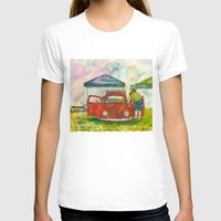 volkswagon T-shirts featuring VW Bug - Preparing for the Show by Barb Laskey Studio