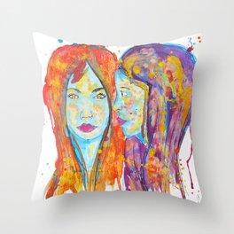 chantal et miriam Throw Pillow