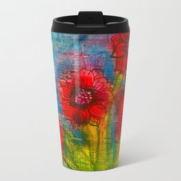 Summertime Fun Metal Travel Mug