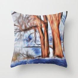 am Rheinufer Throw Pillow