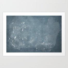 Minimal Blue Abstract 04 Texture Art Print