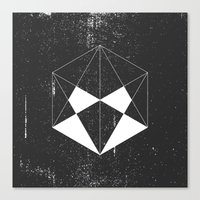 hexagon Canvas Prints featuring Hexagon by eARTh