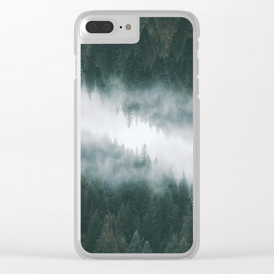 Forest Reflections IV Clear iPhone Case