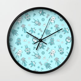 Bots and Cogs Wall Clock