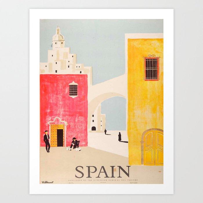 Spain Vintage Travel Poster Mid Century Minimalist Art Kunstdrucke