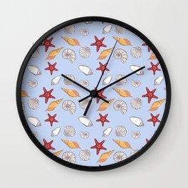 Conchas azuis Wall Clock