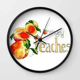 O is for Orangey and P is for Peaches Wall Clock