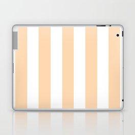 Light orange pink -  solid color - white vertical lines pattern Laptop & iPad Skin