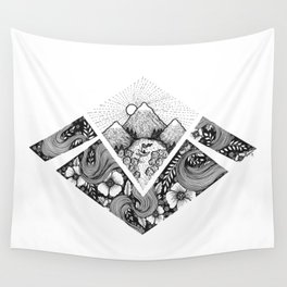 Geometric Nature Wall Tapestry