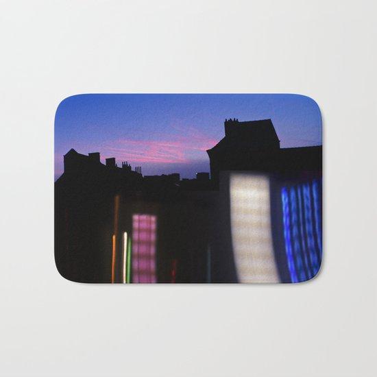 Urban City Lights Bath Mat