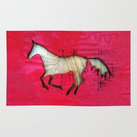 horse Area & Throw Rugs featuring Horse by Brontosaurus