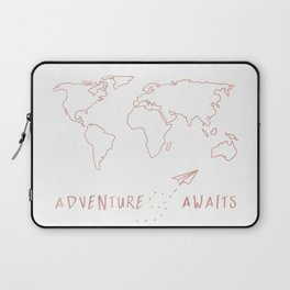 Adventure Map in Rose Gold Laptop Sleeve