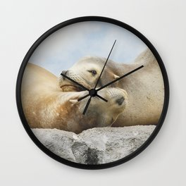 'Rock Buddies' Wall Clock