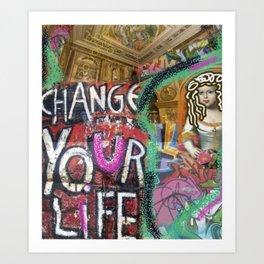 pop art grafitti Art Print