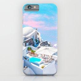 Greece Dreams, Tropical Travel, Architecture Building Cityscape, Landscape Photography Ocean iPhone Case