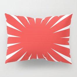 Japanese Flag Red and White Rising Sun  Pillow Sham