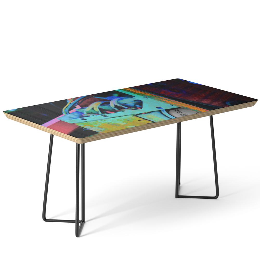Murder Shack Electronics Coffee Table by jeffreyjirwin
