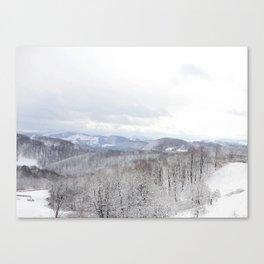 Winter in Transylvania Canvas Print