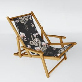 Magnolia and Serpent Sling Chair