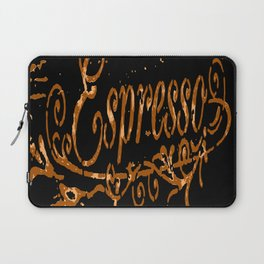 Espresso Coffee Artistic Typography Laptop Sleeve