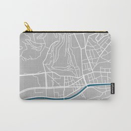 Sarajevo city map grey colour Carry-All Pouch