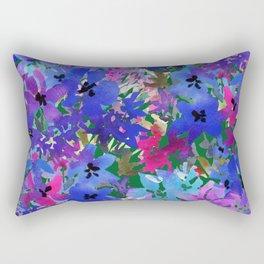 Cool Blue Summer Garden Rectangular Pillow