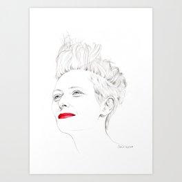 Tilda Swinton Art Print