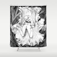 apollonia Shower Curtains featuring asc 566 - La butineuse (Seeking for sweetness) by From Apollonia with Love