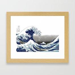 Vintage Great Waves at Kanagawa by Hokusai Framed Art Print