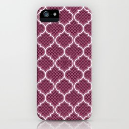 Harem Window (Mulberry Wine) iPhone Case