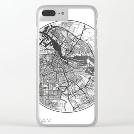 Amsterdam Map Universe Clear iPhone Case