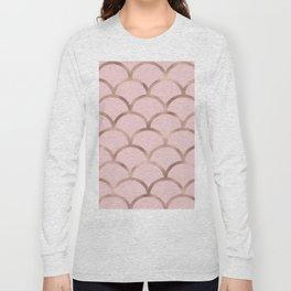 Rose gold mermaid scales Long Sleeve T-shirt
