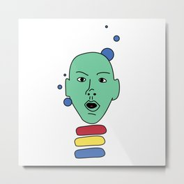 Space Head #1 Metal Print