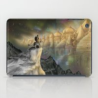 northern lights iPad Cases featuring Northern Lights by Lyndsey Green Illustration