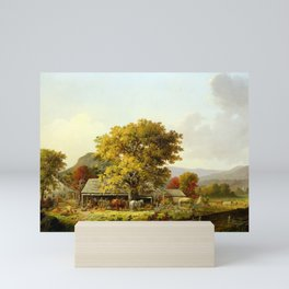 George Henry Durrie Autumn in New England, Cider Making Mini Art Print