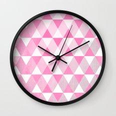 Pink Luck Wall Clock