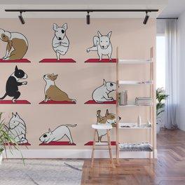 Bull Terrier Yoga Wall Mural