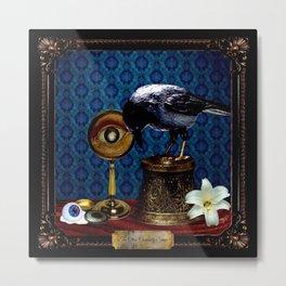 The Curiosity Shop Raven Metal Print