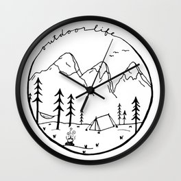 Outdoor Life Wall Clock