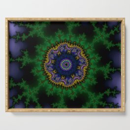 Fractal Abstract 62 Serving Tray