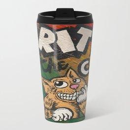 CULT ICON, FRITZ THE CAT by DAVID C*J BUNN Travel Mug