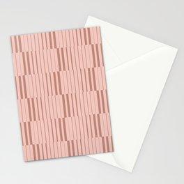 tiny stripes in blush Stationery Cards