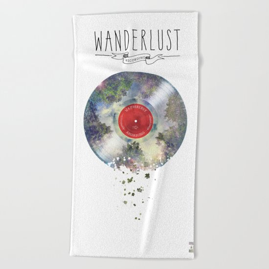 Wanderlust recordings Beach Towel
