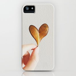 Perfect heart by nature leaf iPhone Case