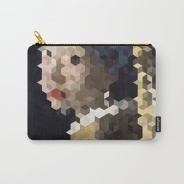 Girl With a Pearl Earring Mosaic #1 Carry-All Pouch